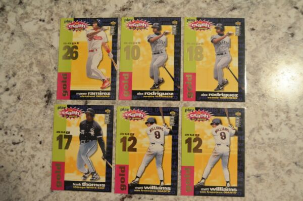 1995 Collector's Choice Crash The Game Gold Inserts Complete Your Set U Pick