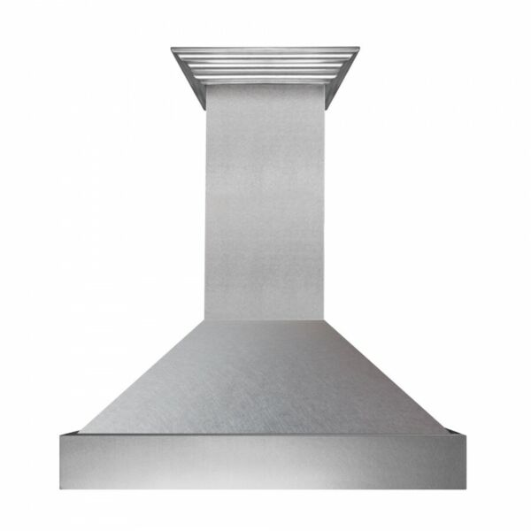 ZLINE 42quot; NEW SNOW STAINLESS STEEL WALL RANGE HOOD CROWN MOLDING 8654SN 42