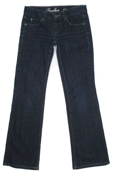 Tommy Hilfiger Womens Jeans Freedom Size 0 S Bootcut Low Rise Stretch Blue Denim $16.80