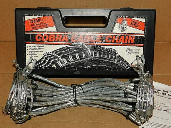 Cobra Cable Tire Snow Chains Stock #1038 Never Used