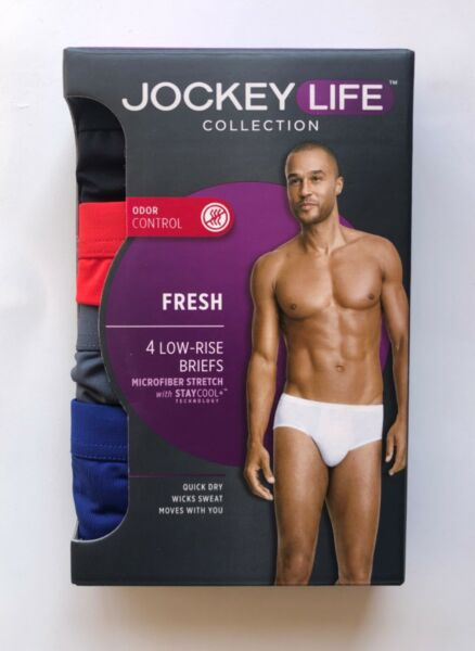 Men's Jockey Life Underwear 234 or 5 Pack—Briefs Long Reg Boxer Brief Trunk $16.49