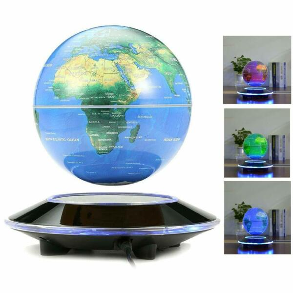6 Inch Magnetic Levitation Floating Earth Globe World Map with Colorful lights