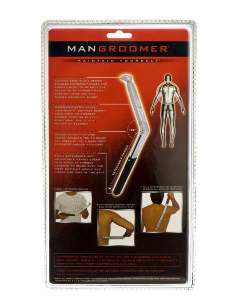 MANGROOMER Do It Yourself Electric Back Hair Shaver $28.57