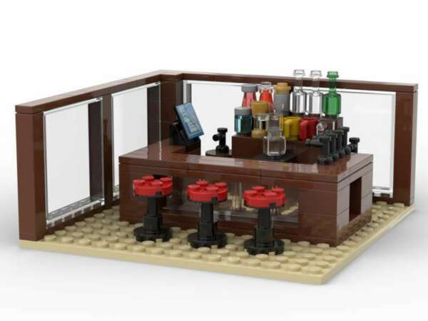 LEGO Bar Pub Tavern Saloon Brewery Happy Hour Drinks Keg Beer Tap Wine City Town