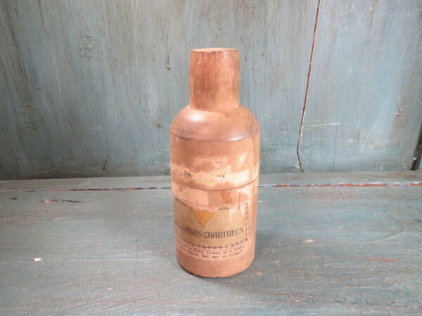 Antique Box Wood Elixir of the Large Chartreuse Father Chartreux Tarragonne