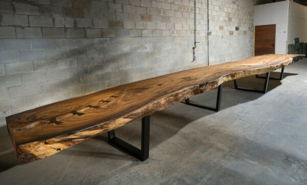 Huge 29' Live-Edge Slab Table!!