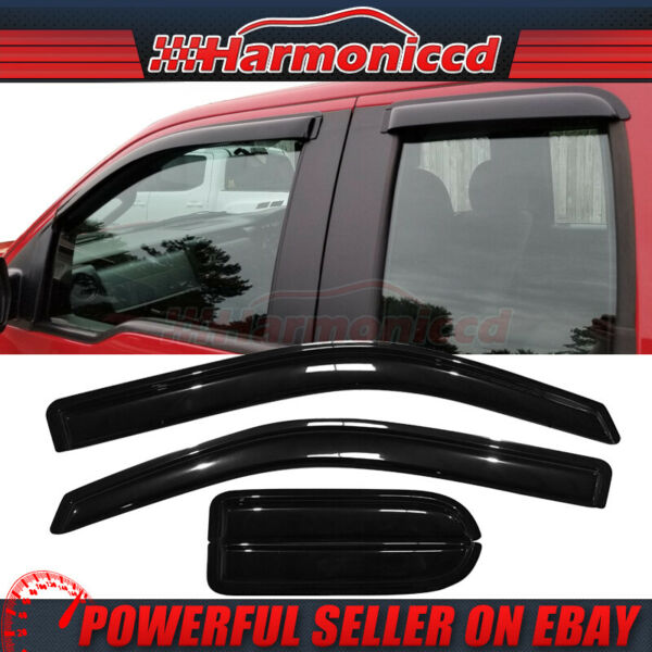 Fits 04-14 Ford F150 Supercab Extended Cab Acrylic Window Visors 4Pc Set