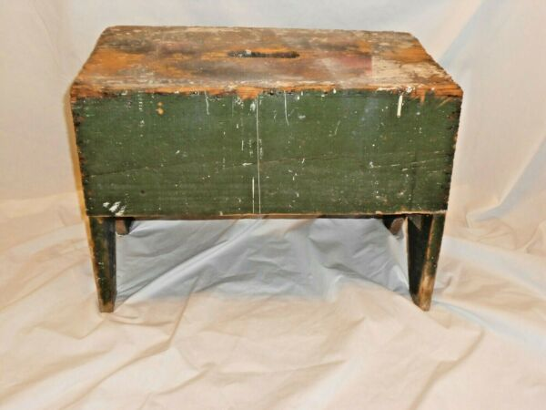 Vintage Wooden Bench step stool plant stand Pine wood