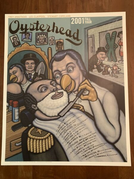Oysterhead 2001 Tour Poster First Edition Phish Primus The Police Trey Anastasio