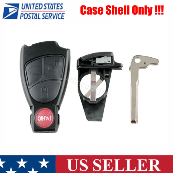 Replacement for 2003 2006 Mercedes Benz Remote Key Fob Shell Case Blade IYZ 3312