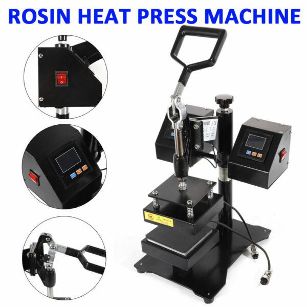 5quot; Heat Press Machine Rosin Press Dual Heat Plates Solventless Extraction US $218.02