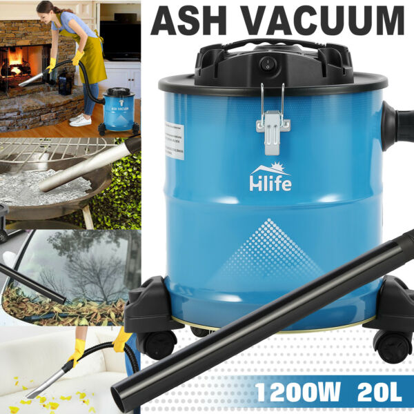 New 1200W Portable Ash Vacuum Cleaner Fireplaces Pellet Stoves BBQ Grills Filter