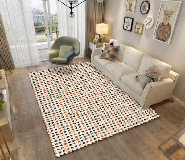 3D Circle Colorful Non-Slip Rug Door Shower Play Mat Hearth Floor Carpet 51