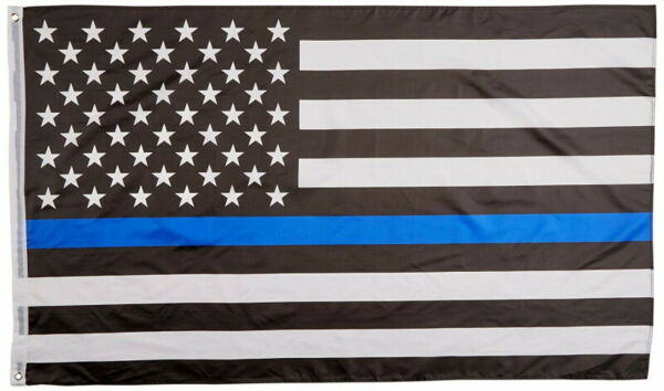 USA Thin Blue Line Police Department Law Enforcement Flag 3x5 w Grommets New $5.95