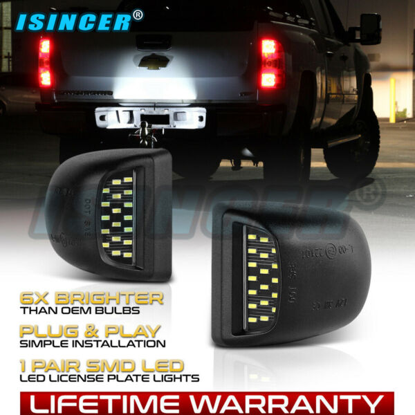 BRIGHT SMD LED License Plate Light Lamps For Chevy Silverado Avalanche 1999-2013
