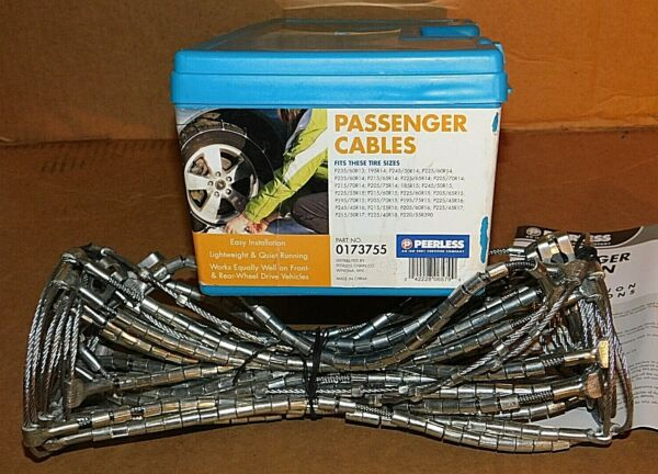 Peerless SnoTrac Traction Cable Tire Snow Chains Stock # 0173755 Never Used
