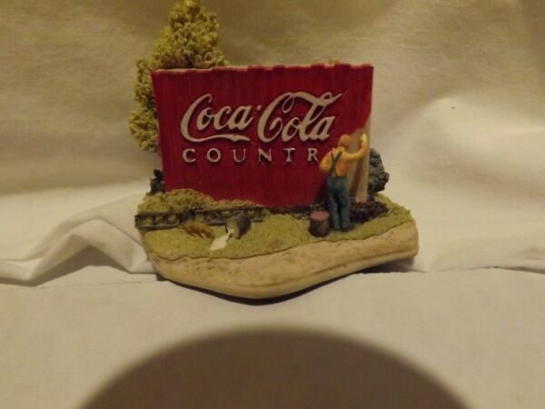 Coca Cola Country Canvas Man Painting Fence L2070 Pre owned