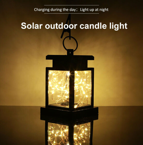 1~10 Pack LED Hanging Solar Lantern Lamp Indoor Outdoor Decor Fairy String Light