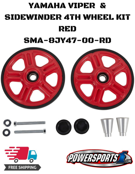 YAMAHA SIDEWINDER VIPER SNOW OUTSIDE IDLER 4TH WHEEL KIT RED  SMA-8JY47-00-RD