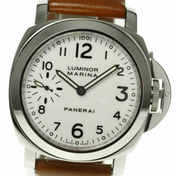 PANERAI Luminor Marina 44mm White Dial PAM00003 Hand-winding Men's Watch_450352