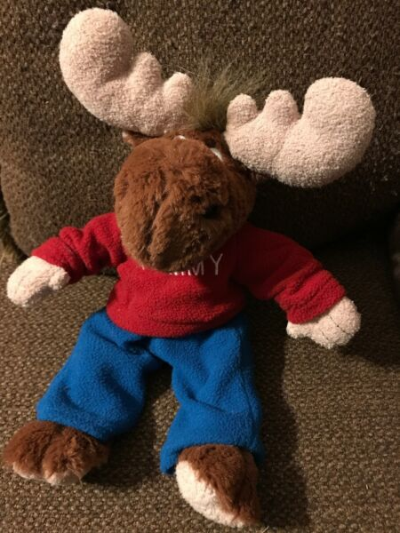 plush TOMMY 14quot; MOOSE with Clothes from MOOSEINTL international ADORABLE $12.99