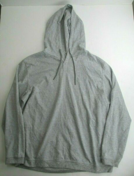 Tasso Elba Men's Textured Hoodie Sterling Heather XXL