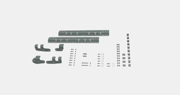 Bamp;W Hitch 5th Wheel Mounting Rails Quick Fit Bracket Kit for 2014 2019 Ram 2500 $228.00