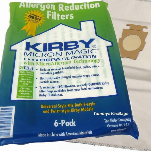 For KIRBY VACUUM BAGS:6 Sentria UNIVERSAL~ F Style MICRON MAGIC Hepa White Cloth $18.49