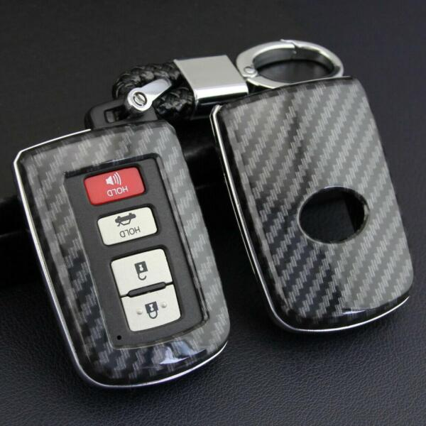 For Toyota Carbon Fiber Smart Car Key Case Cover Fob Holder Accessories $12.20
