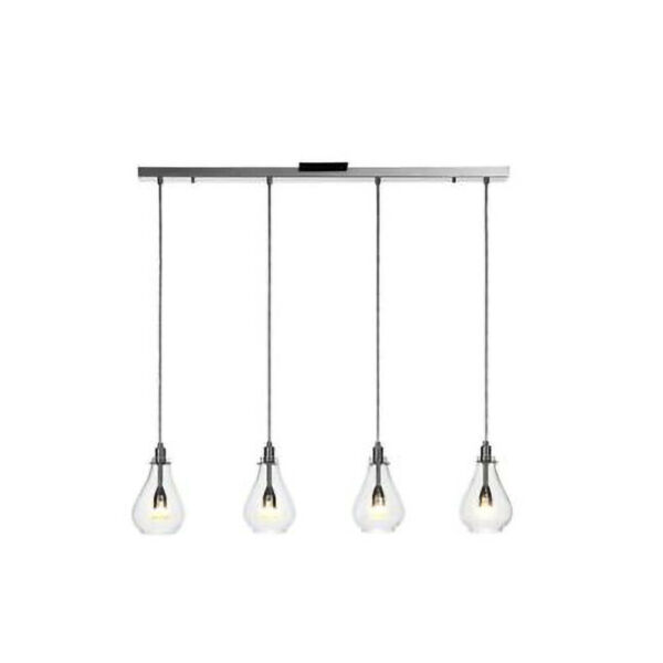 Catalina Bella 4 light Glass Linear Pendant Lighting Chandelier