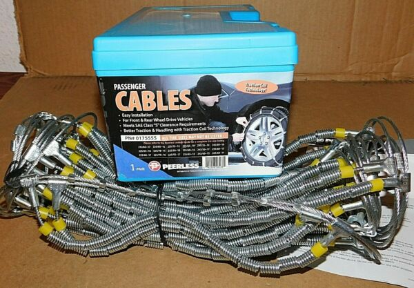 Peerless Passenger Cable Tire Snow Chains Stock # 0175555 Never Used
