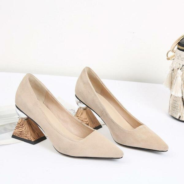 Womens Pull On Pointed Toes Slip On Block Heel Dress Formal Party Shoes Hot Pump $65.54
