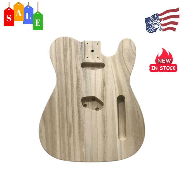 Polished Maple Wood Electric Guitar Barrel Body Unfinished DIY F TL Style Guitar $34.19