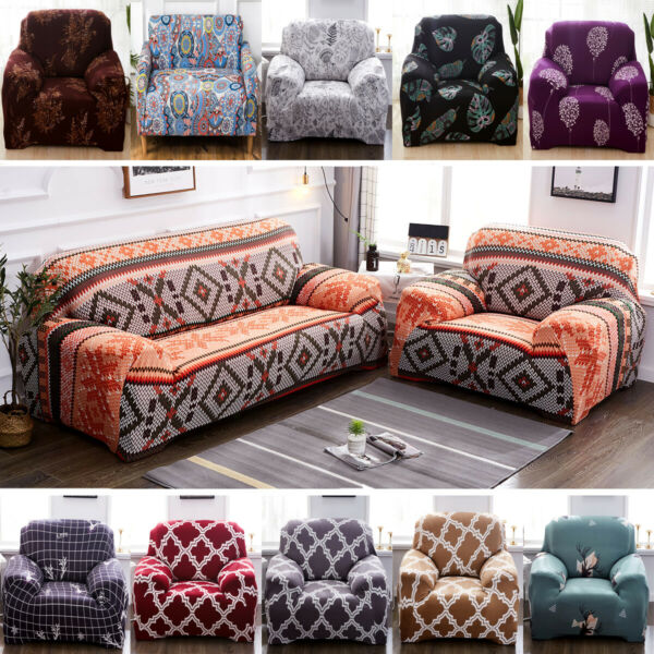 1 2 3 4 Seater Chair Sofa Cover Stretch Slipcover Couch Pet Furniture Protector $35.49