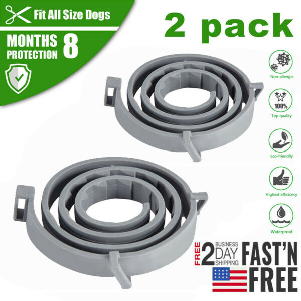 2 Pack Flea and Tick Prevention for Dogs & Cats Dog Flea Control Collars $12.99