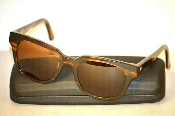 ELECTRIC 40FIVE Brown Plastic Horn Rim Tortoise Unisex Sunglasses $39.99
