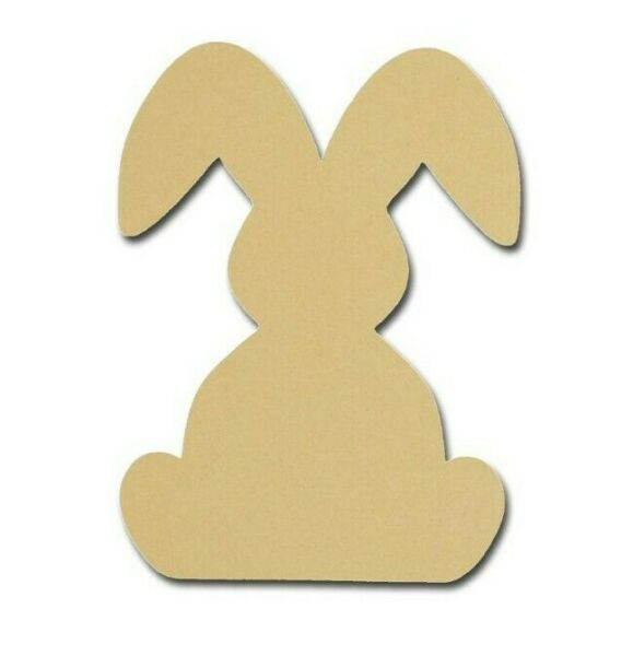 Bunny Rabbit Shape Unfinished Wood MDF Cutouts Easter Decor Variety of Sizes 003