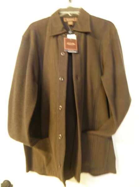 Handsome Gent's SweaterJacketCardigan by Tasso Elba nice brown
