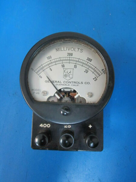 Hickock Electrical Instruments General Controls Co. Millivolt Meter P-46