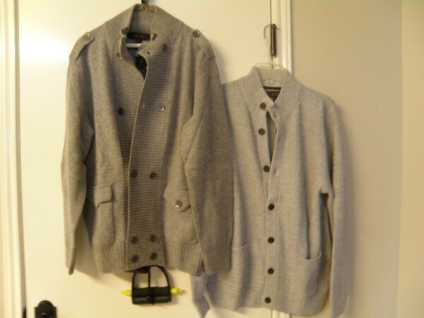 2 pcs. Nice Gent's Cardigan Sweaters by Tasso Elba (wool & cotton)