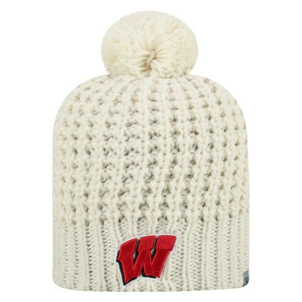 Wisconsin Badgers Beanie Winter Knit Hat Toque Officially Licensed New With Tags