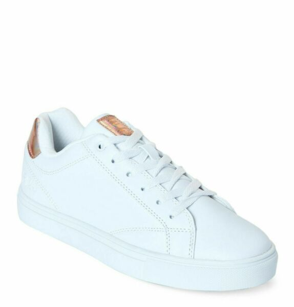 Fila Amalfi 3 White & Gold Low-Top Women's Sneakers Leather Shoes