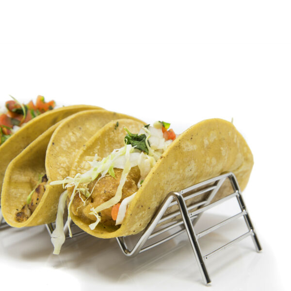 2 Pack Stylish Stainless Steel Taco Holder Stand $12.99