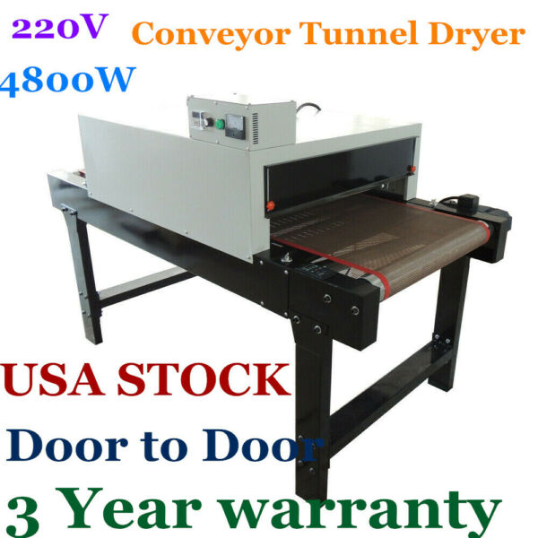 US Stock-Small T-shirt Conveyor Tunnel Dryer 5.9ft. Long x 25.6