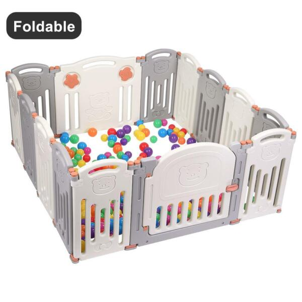 14 Panel Baby Playpen Kids Activity Centre Safety Play Yard Indoor Outdoor New