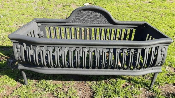 ANTIQUE VICTORIAN ERA CAST IRON FIRE PLACE GRATE LOG BURNING COAL GRATE