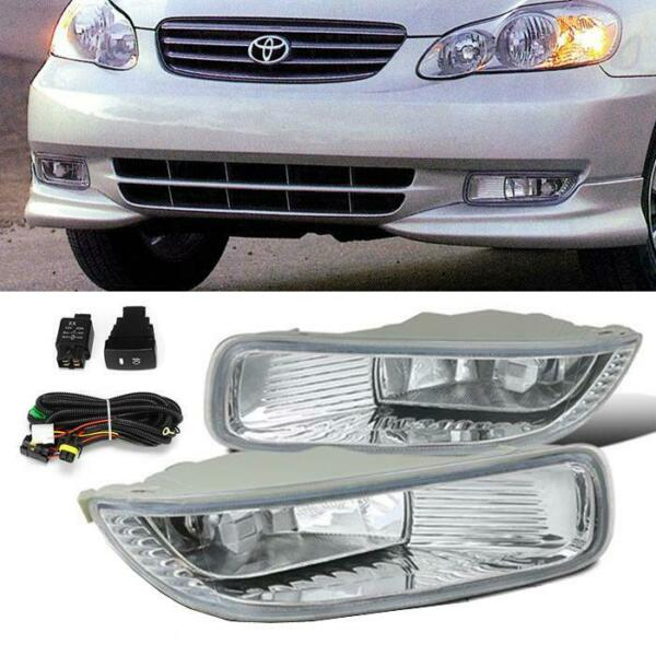 For 2003-2004 Toyota Corolla Clear OE Style Fog Light Bumper Driving Lamp+Switch