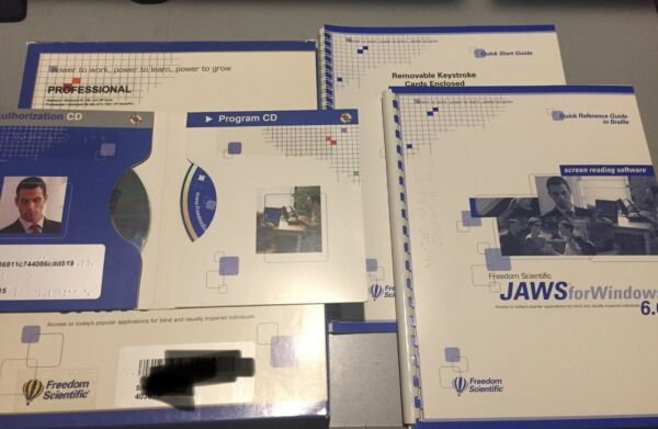 Freedom Scientific JAWS for Windows 6.0 (Used) Cd's Good Condition