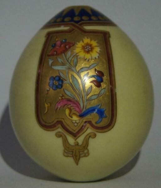 Russian Imperial Antique Porcelain Easter Egg ceramic The Miracle worker WWI