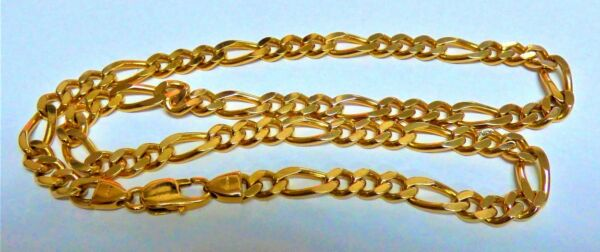 AUTHENTIC YELLOW GOLD 22K 22CT VINTAGE DESIGN CHAIN HANDMADE LINK CHAIN NECKLACE